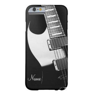 Caja personalizada de la guitarra para el caso del funda de iPhone 6 barely there
