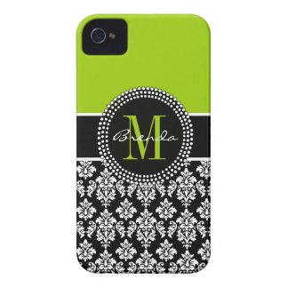 Caja personalizada del damasco del negro de la ver Case-Mate iPhone 4 coberturas