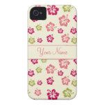 Caja personalizada del estampado de plores 4/4G Case-Mate iPhone 4 Protector