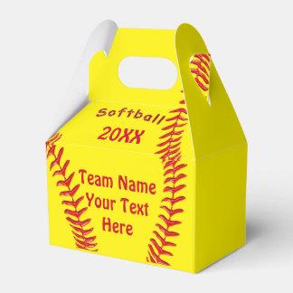 Caja personalizada del favor del softball SU Cajas Para Detalles De Boda