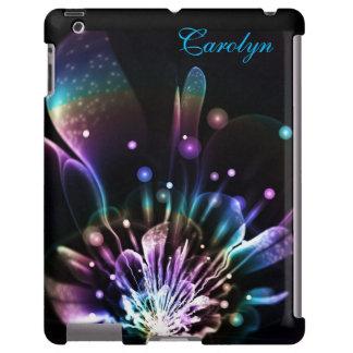 Caja personalizada del iPad de la flor del fractal