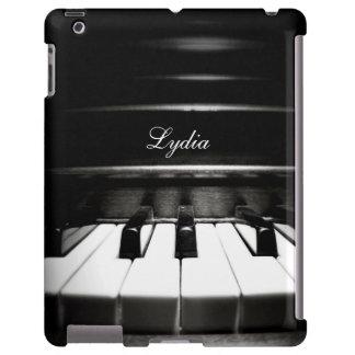 Caja personalizada del iPad de la música del tecla