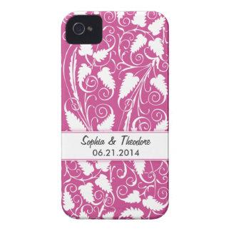 Caja personalizada del iPhone 4 de la vid del vino Case-Mate iPhone 4 Fundas
