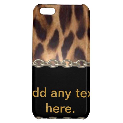 Caja personalizada del iphone 5 del leopardo