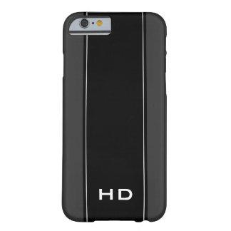 Caja personalizada del iPhone 6 del negro del Funda De iPhone 6 Barely There