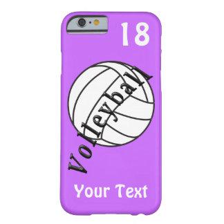Caja personalizada del iPhone 6 del voleibol, su Funda Barely There iPhone 6