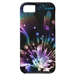 Caja personalizada del iPhone de la flor del fract iPhone 5 Protectores