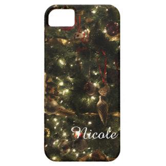 Caja personalizada del iPhone del árbol de navidad iPhone 5 Carcasas