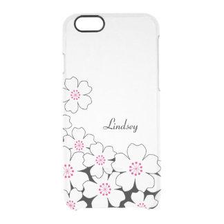 Caja personalizada del iPhone del claro de la flor Funda Clearly™ Deflector Para iPhone 6 De Uncommon