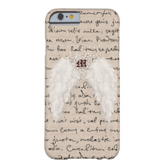 Caja personalizada del teléfono del ala del ángel funda de iPhone 6 barely there