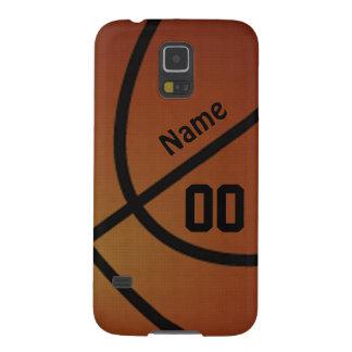 Caja personalizada del teléfono del baloncesto de fundas para galaxy s5