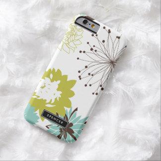 Caja personalizada estampado de flores del iPhone Funda Barely There iPhone 6