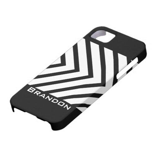 Caja personalizada flechas blancos y negros del iP iPhone 5 Funda