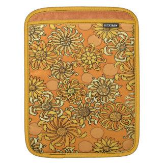 Caja personalizada flor de oro del iPad de Sun Fundas Para iPads