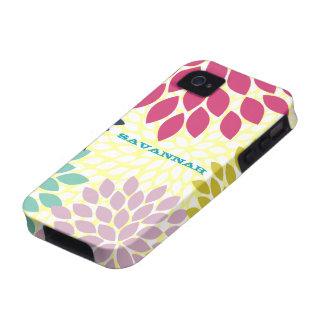 Caja personalizada flor moderna del iPhone de la iPhone 4/4S Carcasas