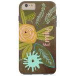 Caja personalizada flora del teléfono del iphone 6 funda de iPhone 6 plus tough