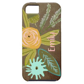 Caja personalizada flora del teléfono del iphone funda para iPhone 5 tough