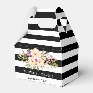 Caja personalizada floraciones del favor de la cajas para detalles de boda
