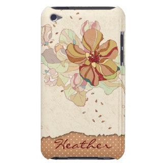 Caja personalizada floral abstracta del tacto de i Case-Mate iPod touch carcasas