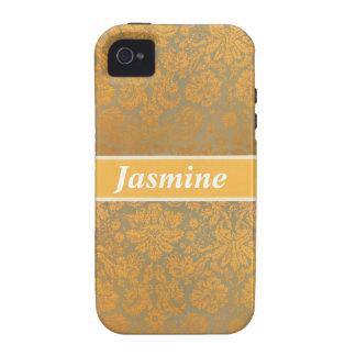 Caja personalizada floral de Iphone 4 del damasco Vibe iPhone 4 Carcasas