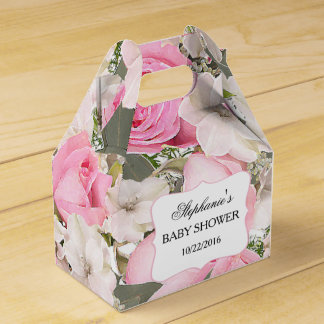 Caja personalizada floral del favor de los ramos cajas para regalos de boda