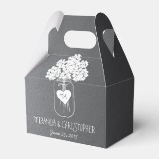 Caja personalizada floral del favor del tarro de caja para regalos de fiestas