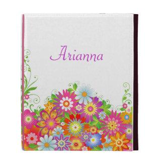 Caja personalizada floral femenina del iPad