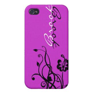 Caja personalizada floral negra y blanca de IPhone iPhone 4 Cárcasa