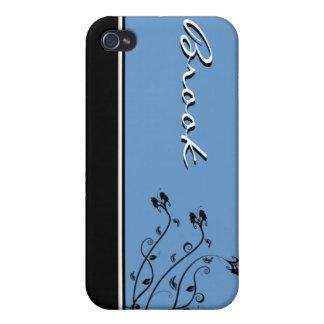 Caja personalizada floral negra y blanca de IPhone iPhone 4 Carcasa
