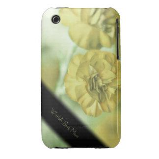 Caja personalizada flores amarillas 3G del iPhone Funda Para iPhone 3 De Case-Mate