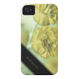 Caja personalizada flores amarillas únicas del carcasa para iPhone 4 de Case-Mate
