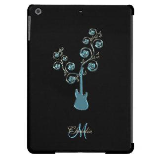 Caja personalizada guitarra azul ciánica del iPad Funda Para iPad Air