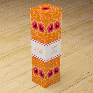 Caja personalizada hibisco tropical del vino caja de vino