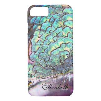 Caja personalizada joya iridiscente nacarada funda iPhone 7