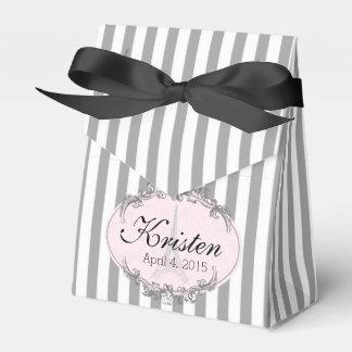 Caja personalizada linda elegante del favor de cajas para regalos de boda