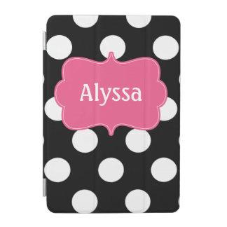 Caja personalizada lunares rosados negros cubierta de iPad mini