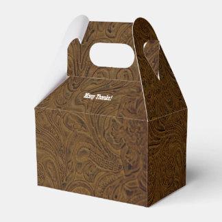Caja personalizada mirada equipada del favor del cajas para detalles de boda