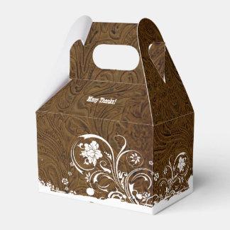 Caja personalizada mirada equipada del favor del cajas para regalos de fiestas