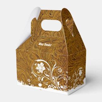 Caja personalizada mirada rústica del favor del cajas para detalles de boda