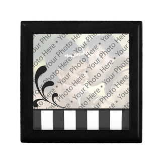 Caja personalizada negro del recuerdo del regalo joyero cuadrado pequeño