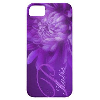 Caja personalizada púrpura del crisantemo iPhone 5 carcasa