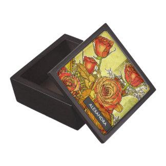 Caja personalizada ramo color de rosa de la joyerí cajas de joyas de calidad