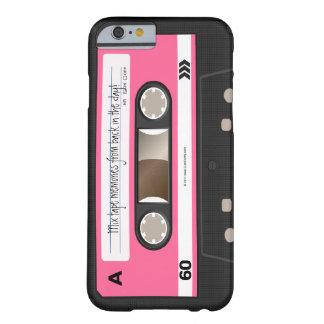 Caja personalizada retra de la cinta de casete de funda de iPhone 6 barely there