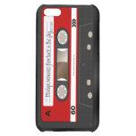 Caja personalizada retra roja de la cinta de caset