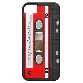 Caja personalizada retra roja de la cinta de iPhone 5 Case-Mate fundas