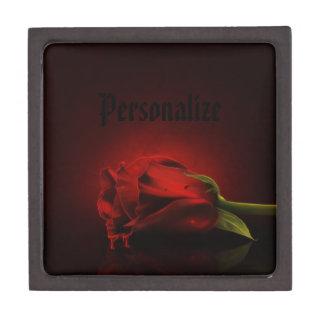 Caja personalizada rosa sangriento gótico de la ba cajas de recuerdo de calidad