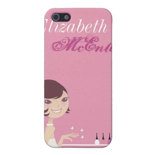 Caja personalizada salón femenino del iPhone 4 del iPhone 5 Carcasas