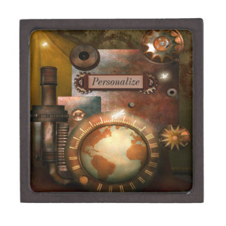 Caja personalizada Steampunk hermosa de la baratij Caja De Regalo De Calidad