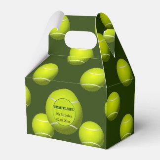 Caja personalizada tema del favor del tenis del cajas para regalos de boda