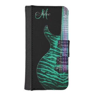 Caja personalizada verde de la cartera de la guita funda tipo cartera para iPhone 5